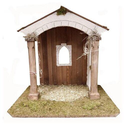 Alfred Kolbe kribbe Kerststal voor 25 cm figuren echt hout (1-delig)  - 109.99 - bruin