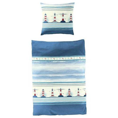 BIERBAUM overtrekset Vuurtoren maritiem (2-delig)  - 39.95 - blauw