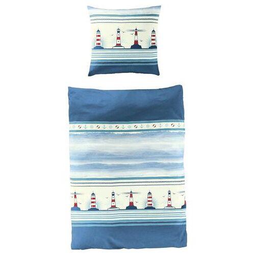 BIERBAUM overtrekset Vuurtoren maritiem (2-delig)  - 54.99 - blauw