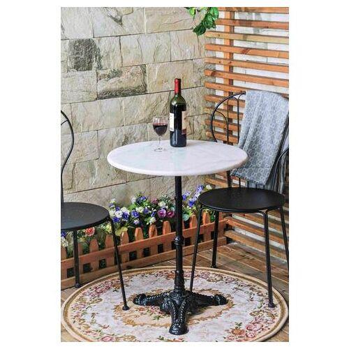 SIT bistrotafel met marmeren blad en leuke ijzeren voet  - 159.99 - grijs