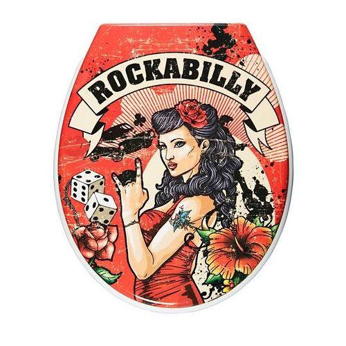 ADOB toiletzitting Rockabilly Met soft-closemechanisme  - 39.99 - rood