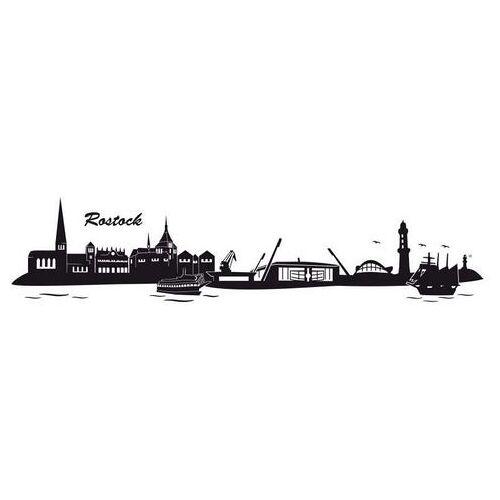 ART Wall-Art wandfolie Stad skyline Rostock 120 cm (1 stuk)  - 41.99 - zwart