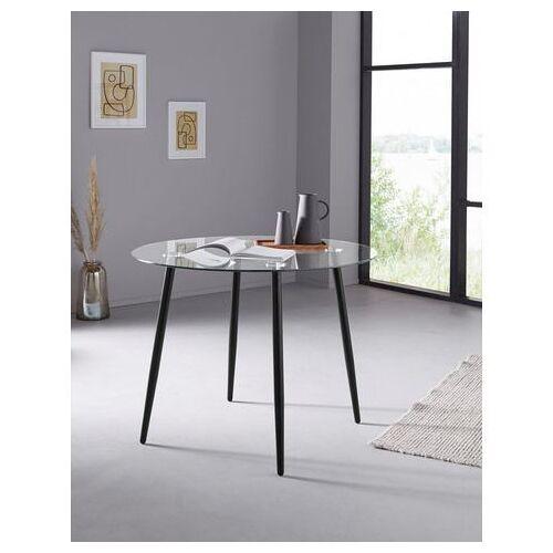 my home glazen tafel Danny ronde eettafel met een ø van 100 cm  - 109.99 - zwart