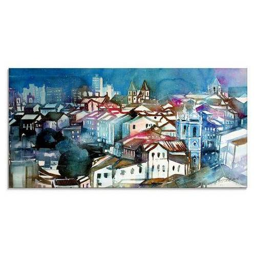 Artland print op glas Brazilië II (1 stuk)  - 74.99 - blauw