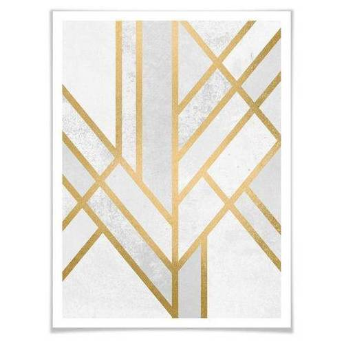 ART Wall-Art poster Geometrie goud (1 stuk)  - 23.99 - multicolor