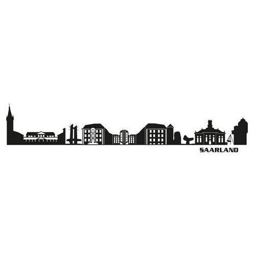 ART Wall-Art wandfolie XXL stad skyline Saarland 120 cm (1 stuk)  - 37.99 - zwart