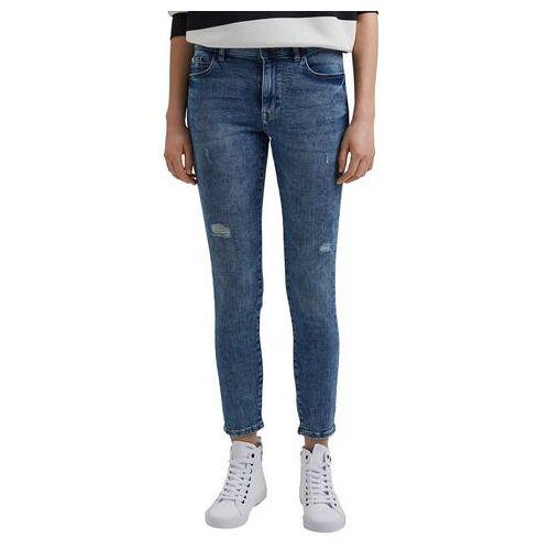 edc by Esprit skinny jeans met lichte destroyed-effecten  - 44.99 - blauw - Size: 26;28;34