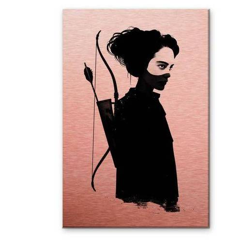 ART Wall-Art metalen artprint Metallic Mockingjay metalen bord (1 stuk)  - 151.99 - rood