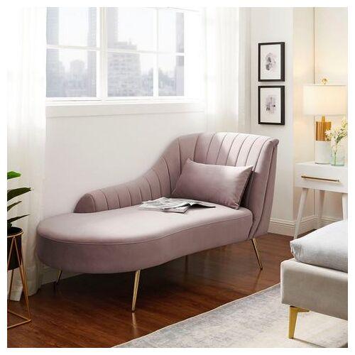 Leonique chaise-longue Theems Incl. sierkussen, elegant design  - 649.99 - roze
