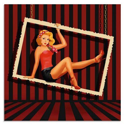 Artland print op glas Schoonheid van de jaren 50 (1 stuk)  - 56.99 - rood
