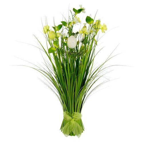 I.GE.A. kunstgras Gras en bloemen met fijne bloemen en een strik (1 stuk)  - 36.99 - geel