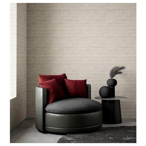 ATLANTIC home collection XXL-fauteuil ronde big fauteuil, zitting, rugleuningen sierkussen fluweel, extra zacht en behaaglijk, vulling met veren  - 529.99 - zwart - Size: imitatieleer/fluweel
