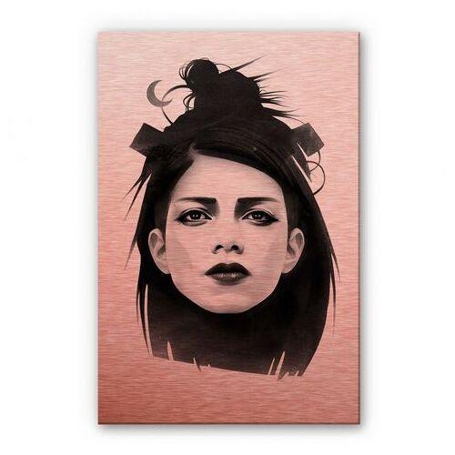 ART Wall-Art metalen artprint Metallic zwart metalen bord 3D (1 stuk)  - 151.99 - rood