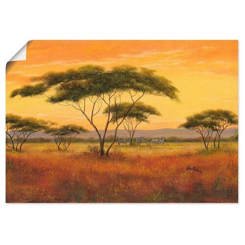 Artland artprint Afrikaans landschap in vele afmetingen & productsoorten - artprint van aluminium / artprint voor buiten, artprint op linnen, poster, muursticker / wandfolie ook geschikt voor de badkamer (1 stuk)  - 23.99 - bruin