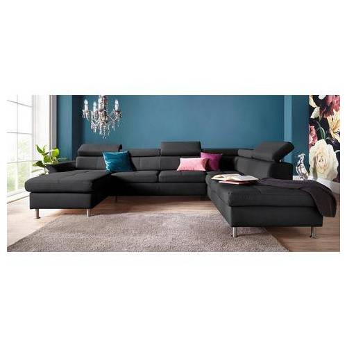 exxpo - sofa fashion zithoek  - 2389.99 - zwart - Size: leerkunstvezel