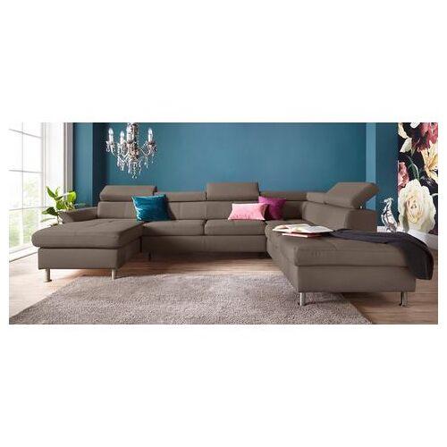 exxpo - sofa fashion zithoek  - 2219.99 - bruin - Size: leerkunstvezel