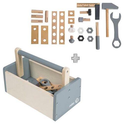 Roba® speelgoed-gereedschap 'Gereedschapskist', (set, 22-delig)  - 29.99 - beige