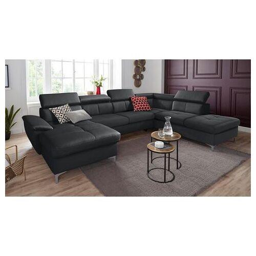 exxpo - sofa fashion zithoek  - 2419.99 - zwart - Size: leerkunstvezel