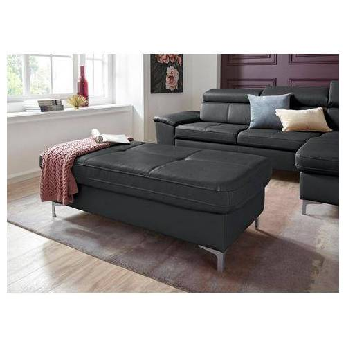 exxpo - sofa fashion hocker  - 399.99 - zwart - Size: leerkunstvezel