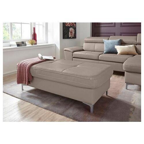 exxpo - sofa fashion hocker  - 399.99 - zilver - Size: leerkunstvezel