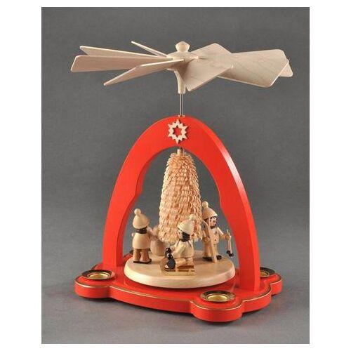 Albin Preissler kerstpiramide  - 119.99 - rood - Size: 20 cm