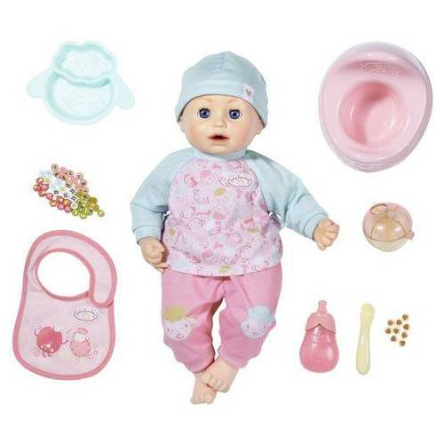 Baby Annabell babypop Annabell Lunch Time, 43 cm met slaapogen en geluid  - 64.99 - roze