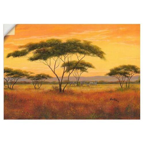 Artland artprint Afrikaans landschap in vele afmetingen & productsoorten - artprint van aluminium / artprint voor buiten, artprint op linnen, poster, muursticker / wandfolie ook geschikt voor de badkamer (1 stuk)  - 42.99 - bruin