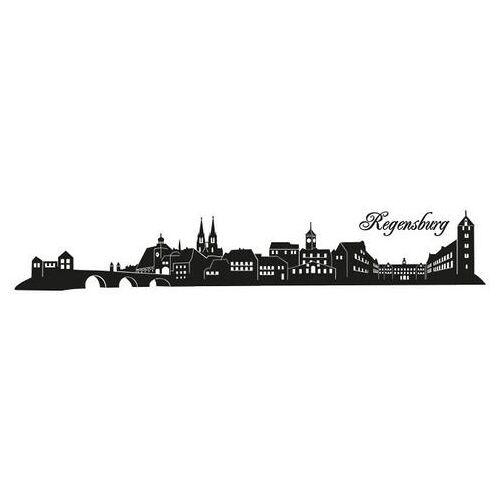 ART Wall-Art wandfolie Beieren Skyline Regensburg 120 cm (1 stuk)  - 31.99 - zwart