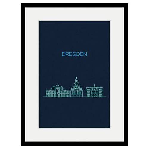 queence wanddecoratie »Dresden Sightseeing«  - 92.99 - blauw