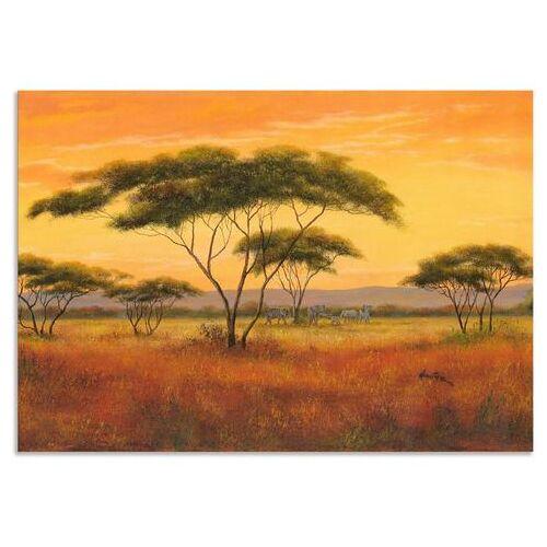 Artland artprint Afrikaans landschap in vele afmetingen & productsoorten - artprint van aluminium / artprint voor buiten, artprint op linnen, poster, muursticker / wandfolie ook geschikt voor de badkamer (1 stuk)  - 103.99 - bruin