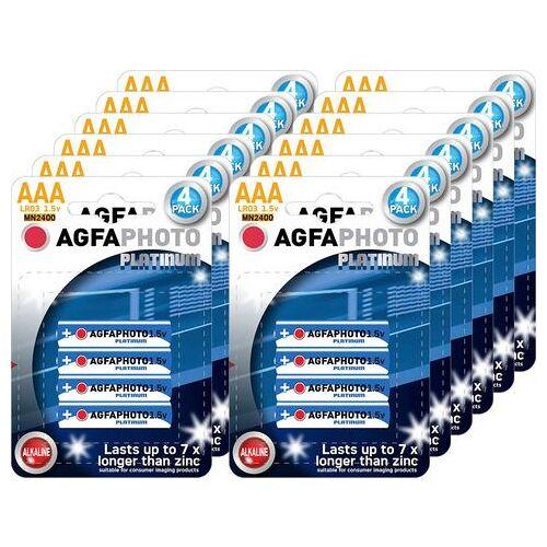 AgfaPhoto batterij Batterij alkaline, micro, AAA, LR03, 1.5V, platinum, doos (48 stuks) (set)  - 11.00 - wit