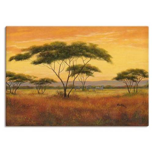 Artland artprint Afrikaans landschap in vele afmetingen & productsoorten - artprint van aluminium / artprint voor buiten, artprint op linnen, poster, muursticker / wandfolie ook geschikt voor de badkamer (1 stuk)  - 88.99 - bruin