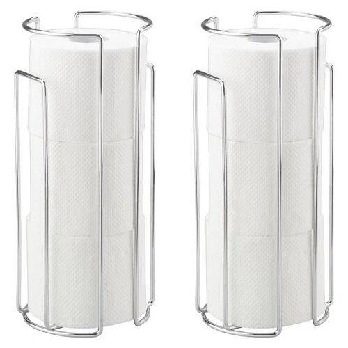 WENKO Toilet-voorraadrollenhouder  - 20.51 - zilver