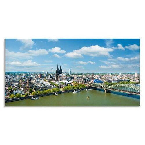 Artland print op glas Keulen Rijn Panorama (1 stuk)  - 151.99 - blauw