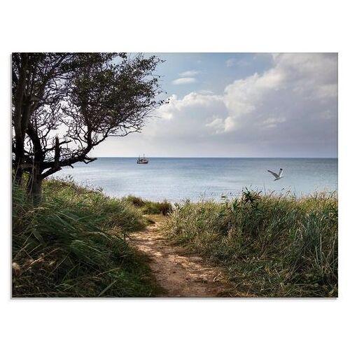 Artland print op glas Wegen naar de zee.... (1 stuk)  - 77.99 - beige