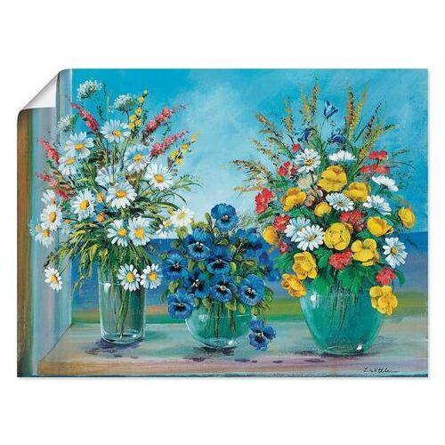 Artland artprint Meerdere boeketten in vele afmetingen & productsoorten -artprint op linnen, poster, muursticker / wandfolie ook geschikt voor de badkamer (1 stuk)  - 36.99 - multicolor
