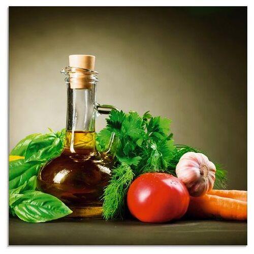 Artland print op glas Gezonde groente en specerijen (1 stuk)  - 25.99 - groen