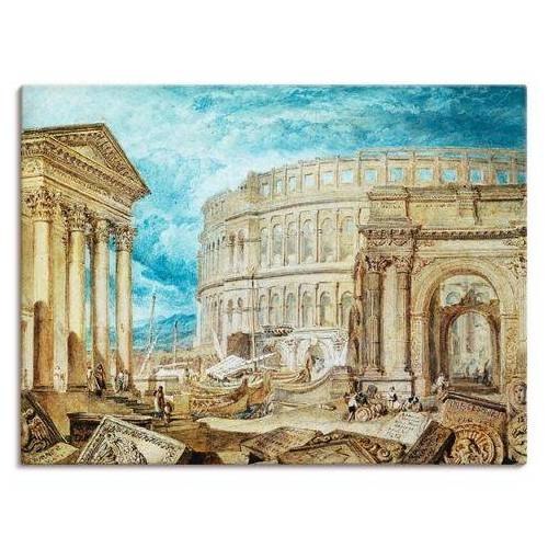 Artland artprint Antiquiteiten van Pola in vele afmetingen & productsoorten -artprint op linnen, poster, muursticker / wandfolie ook geschikt voor de badkamer (1 stuk)  - 81.99 - blauw