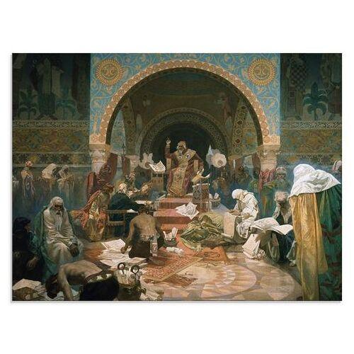 Artland print op glas Het slavische epos: tsaar Simon Bulgarije (1 stuk)  - 77.99 - multicolor