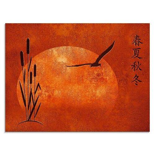 Artland print op glas Aziatische seizoenen (1 stuk)  - 142.99 - rood
