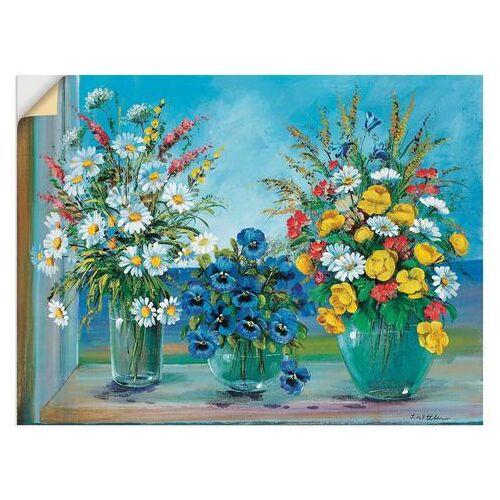 Artland artprint Meerdere boeketten in vele afmetingen & productsoorten -artprint op linnen, poster, muursticker / wandfolie ook geschikt voor de badkamer (1 stuk)  - 22.99 - multicolor