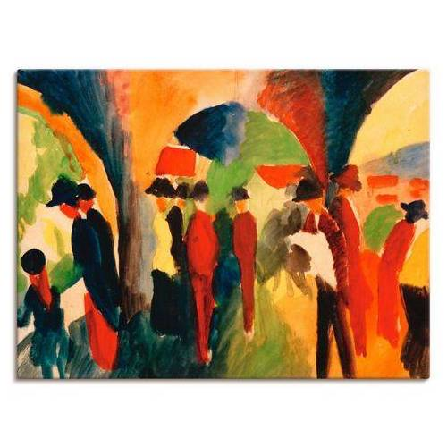 Artland artprint Wandelaar in vele afmetingen & productsoorten -artprint op linnen, poster, muursticker / wandfolie ook geschikt voor de badkamer (1 stuk)  - 81.99 - multicolor