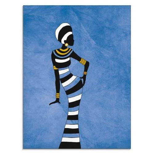 Artland print op glas Afrikaanse vrouw (1 stuk)  - 77.99 - blauw
