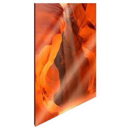 ART & Pleasure artprint op hout Speleologie  - 59.99 - oranje