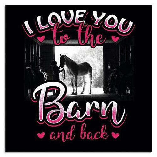 Artland print op glas Motto voor ruiters en paardenfans (1 stuk)  - 72.99 - roze