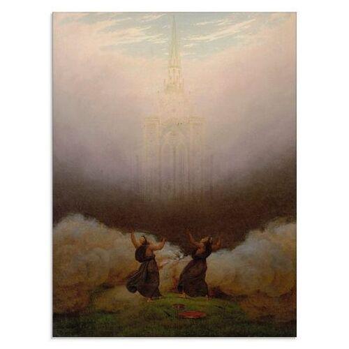 Artland print op glas De visie van de christelijke kerk (1 stuk)  - 77.99 - roze