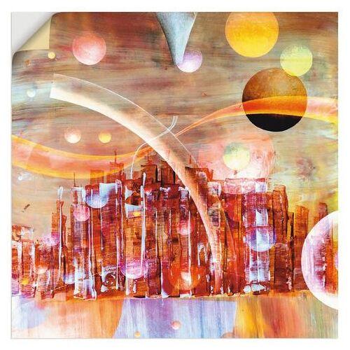Artland artprint »Weltraumstadt 3000«  - 44.99 - rood