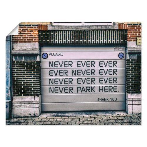 Artland artprint »Nicht Parken«  - 36.99 - wit