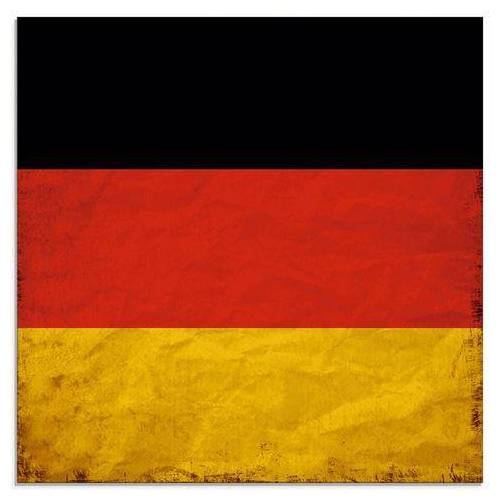 Artland print op glas Duitsland Duitse Vlag (1 stuk)  - 42.99 - rood