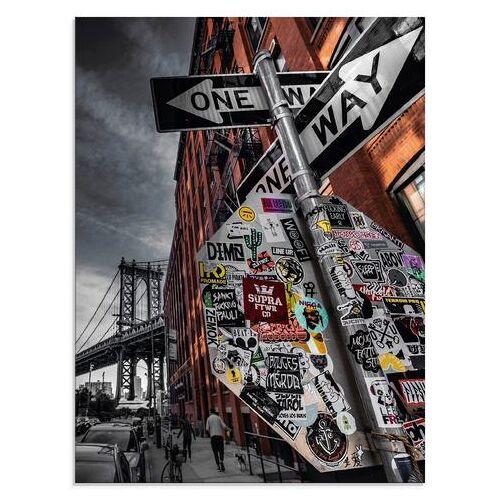 Artland print op glas »New York Street Fotografie«  - 142.99 - grijs
